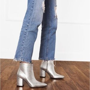Anine Bing Silver Natalie Booties Boots